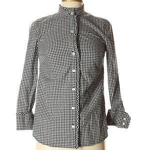 Vineyard Vines Holiday Gingham Ruffle Button Down